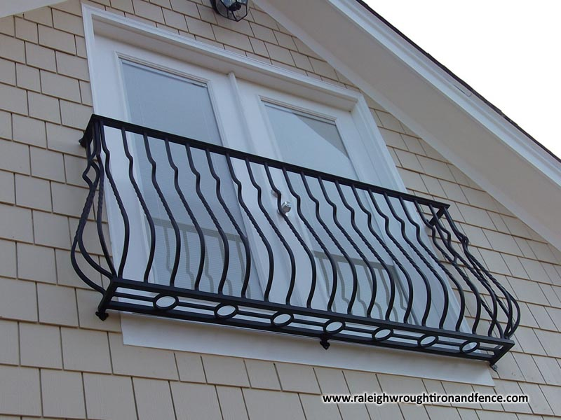 Iron juliet balcony raleigh wrought iron co for What is a balcony