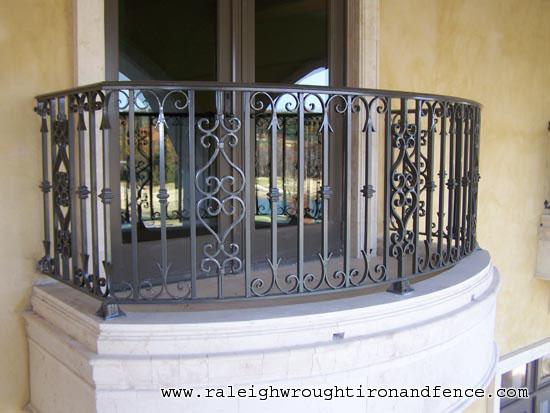 Custom iron balcony fabricator raleigh wrought co