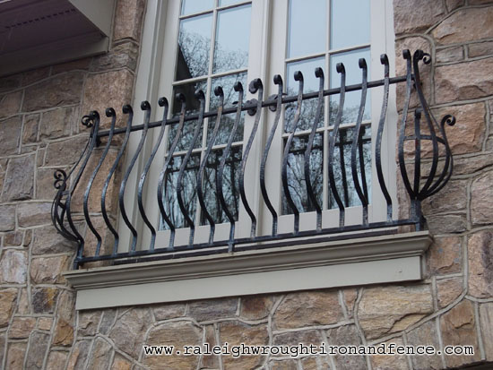 Faux iron balconette raleigh wrought co