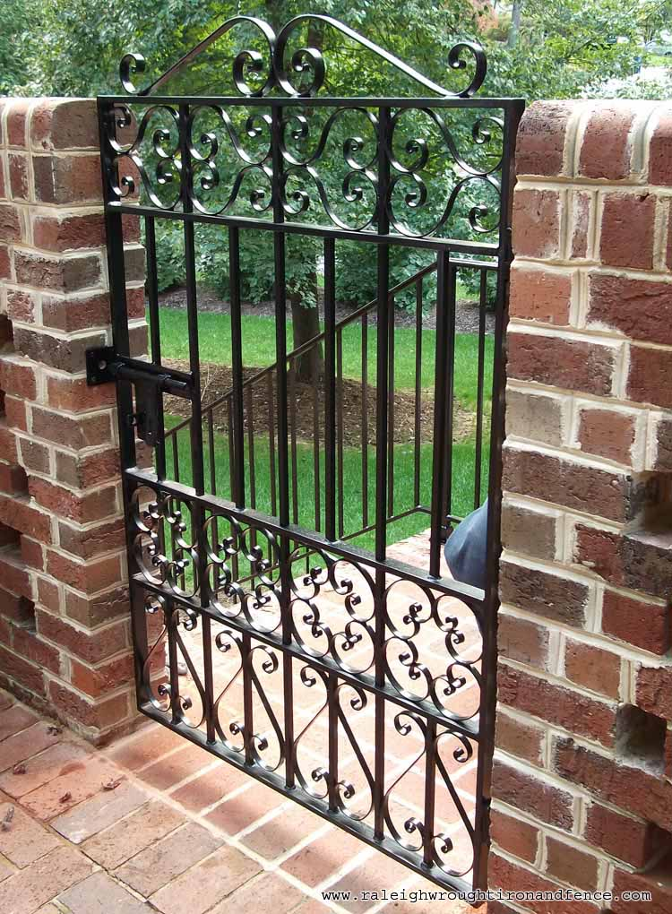 Wrought iron fence and gates accessories gate