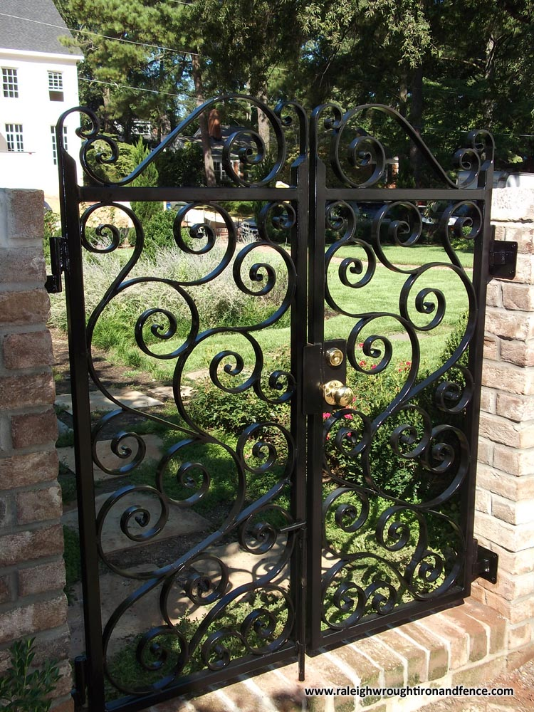 Wrought Iron Gates: Greensboro NC Wrought Iron Driveway Gate Fabricator
