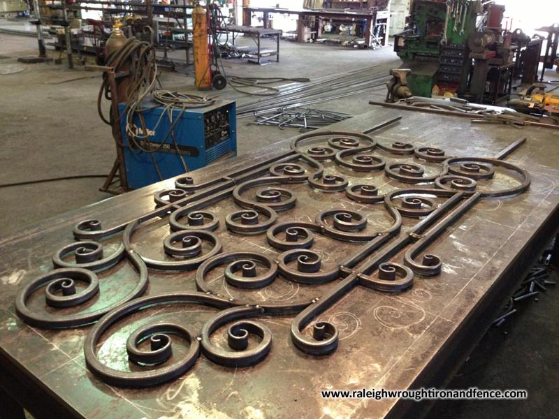 Wrought Iron Artwork Delectable Raleigh Wrought Iron And Fence Cowelding And Fabrication Light Design Decoration