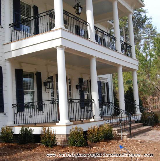 Greensboro nc custom wrought iron railings raleigh