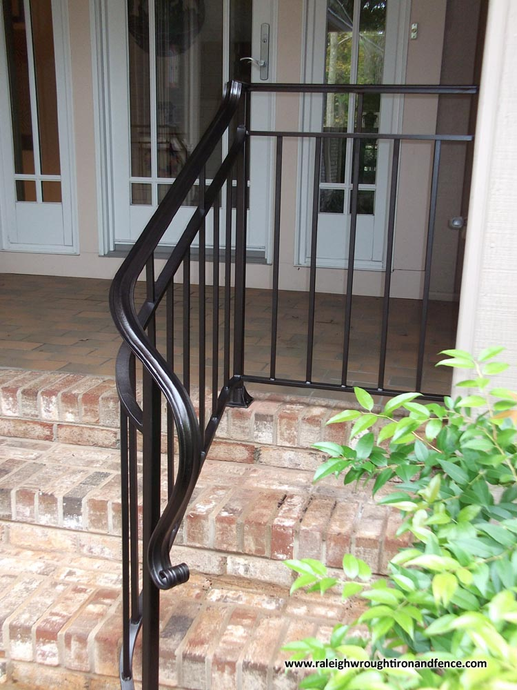 Chapel hill custom wrought iron interior railings