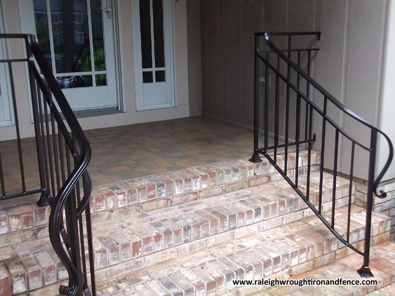Custom Wrought Iron Residential Railings Raleigh Wrought