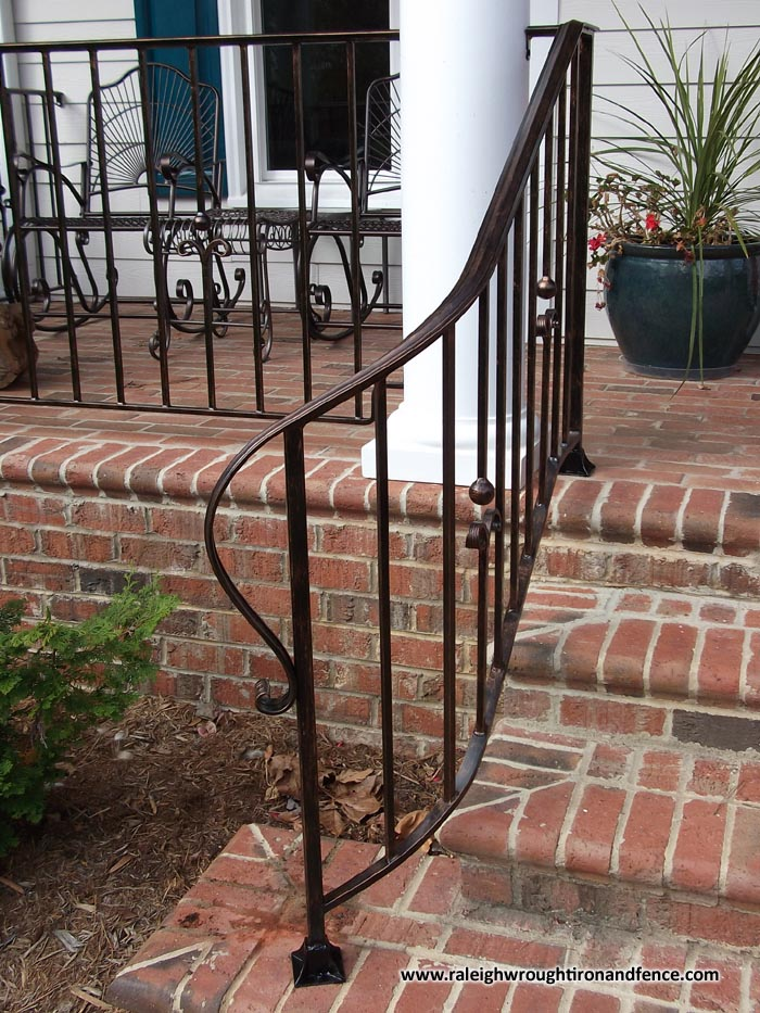 Chapel Hill Custom Wrought Iron Interior Railings Raleigh Wrought Iron Co