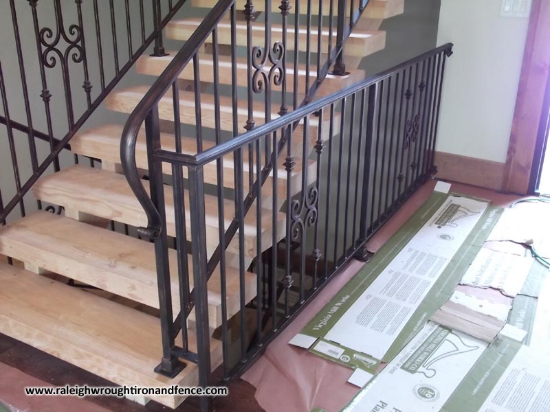 Custom wrought iron porch railings raleigh nc Decorative railings