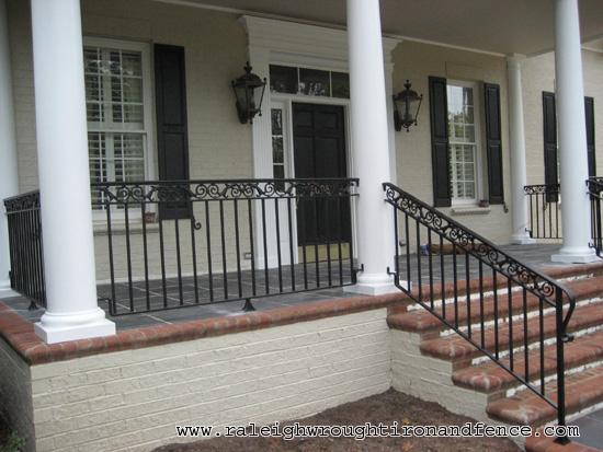 Charlotte nc custom wrought iron railings raleigh