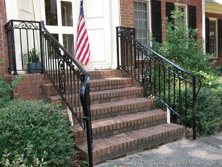 Chicago IL custom wrought iron railings Raleigh Wrought ...